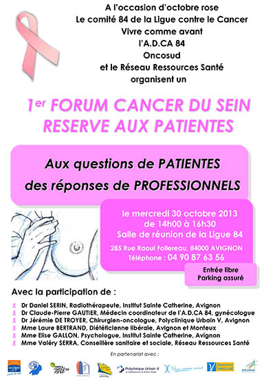 Affiche forum sein 30 octobre 2013